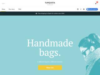 Turqueta Handmade web design