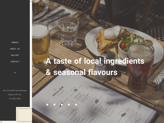 Vallier Bistro web design