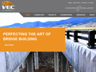 VEC Civil Engineering web design