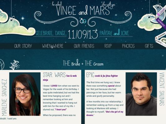 Vince and Marlene web design