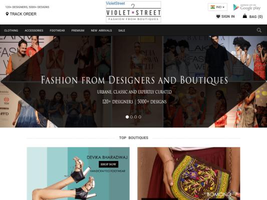 VioletStreet.com web design