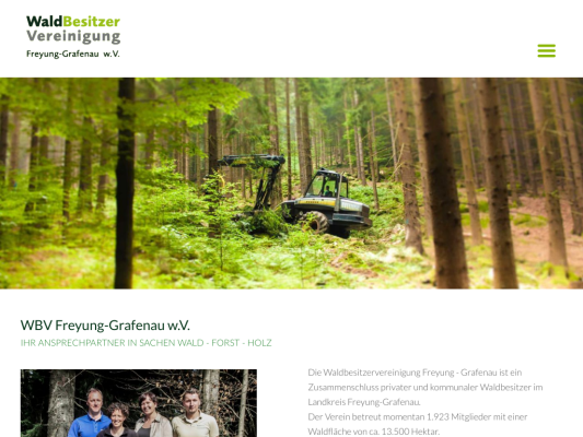 WBV FRG web design
