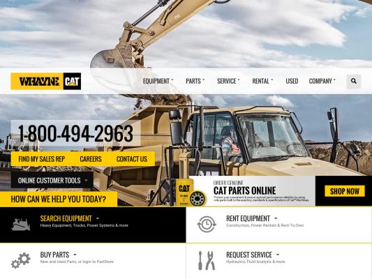 Whayne CAT web design