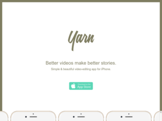 Yarn Video App web design